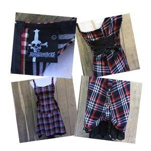 Lip Service Plaid Steampunk Dress Sz L